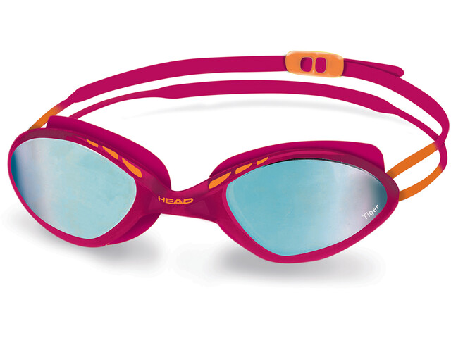 Head Tiger Race Mid Mirrored Goggles raspberry-blue